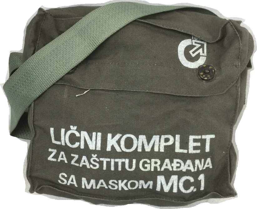Soviet / East European all cotton gas mask bag NEW / UNISSUED