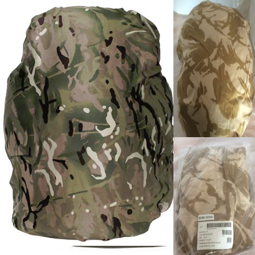 3 x British army surplus rucksack covers, desert mtp multicam NEW