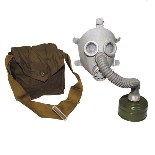 Russian child sized gas mask, tubing,  bag - UNISSUED  in 2 colours