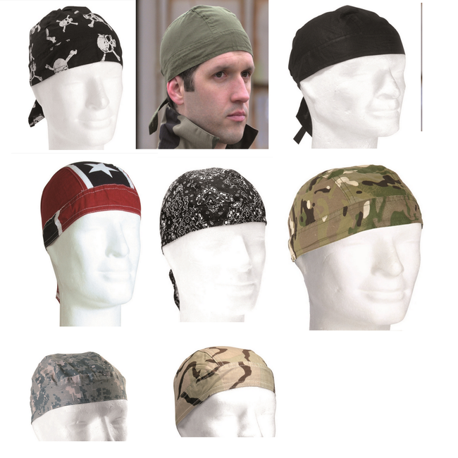 Bandana / zandana / durag - 100% cotton - wide range of colours/patterns