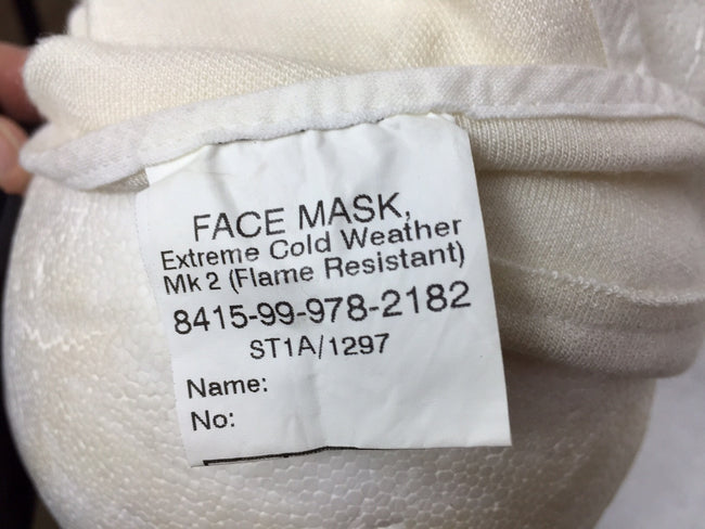 British army surplus extreme cold weather face mask - UNISSUED