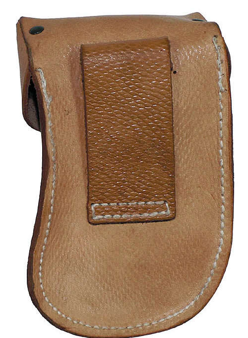 Czech army surplus 'Scorpion' brown leather magazine holder