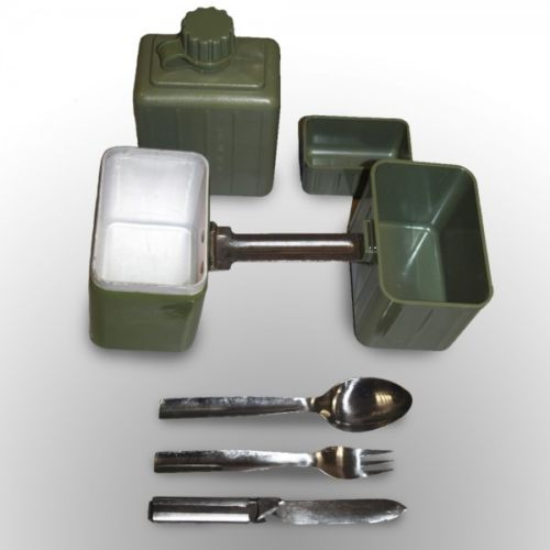 Army Surplus Complete Field Mess Set Including Water Bottle, Cutlery and Bowl