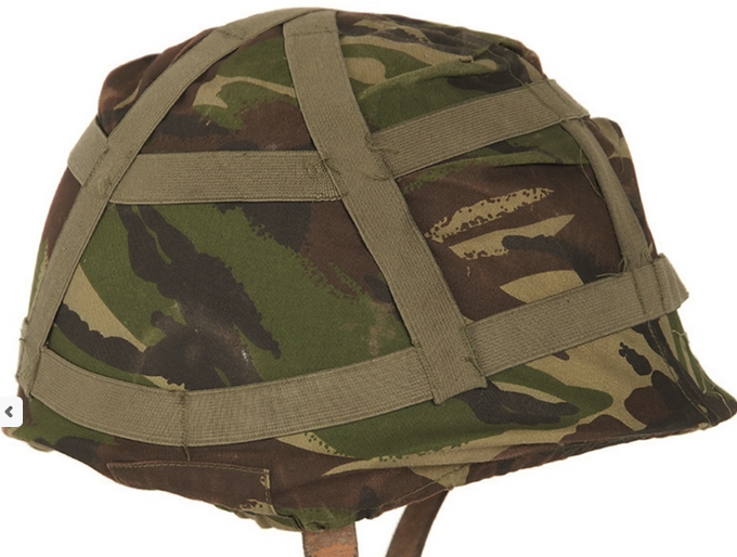 British army surplus D.P.M camouflage helmet cover