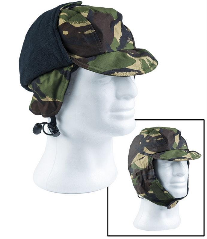 British army surplus Cold weather / winter waterproof camouflage cap