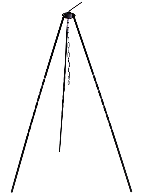 Tall 1 metre high tripod campfire cooking bushcraft