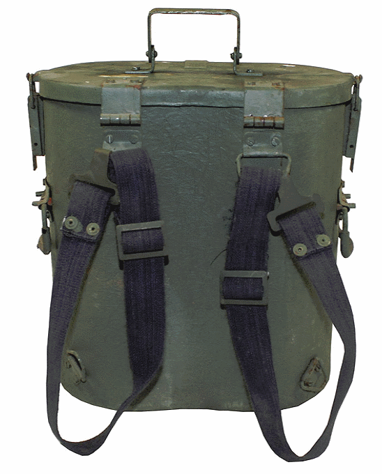 German army surplusmetal (norwegian) food container and straps