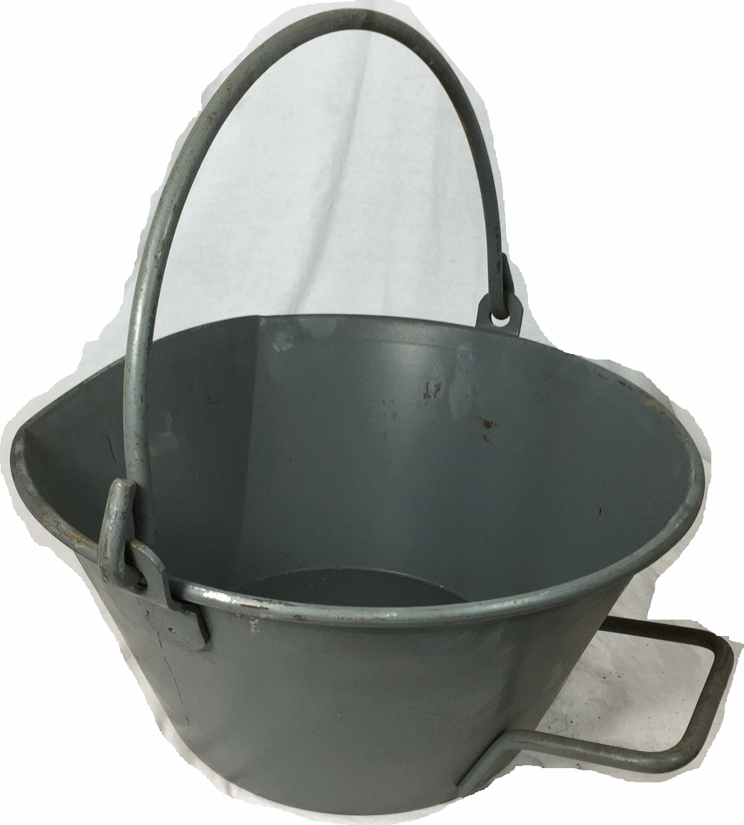 HEAVY DUTY Swiss army surplus all metal 12 litre bucket with handle