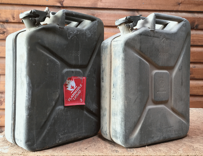 British army surplus 20 Litre metal jerry petrol fuel can 20 Litre