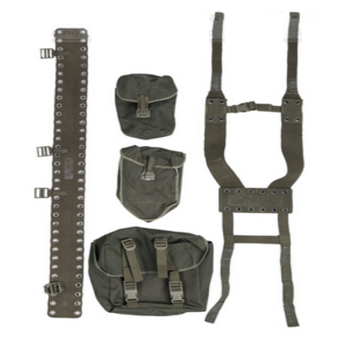 (shovel pouch)German army issue webbing set Olive in colour