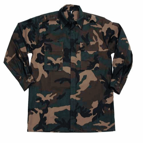 Croatian army surplus field shirt / jacket woodland camouflage NEW / UNISSUED