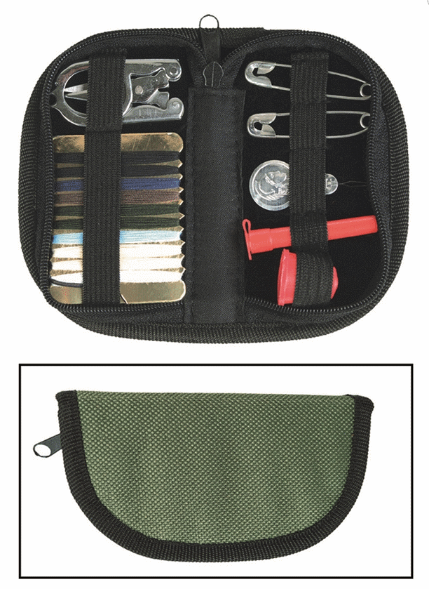 MILTEC olive green super compact folding sewing kit cadet travel camping cadet