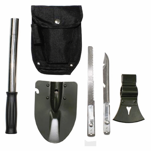 Compact multifunction tool perfect for hiking camping axe spade pouch