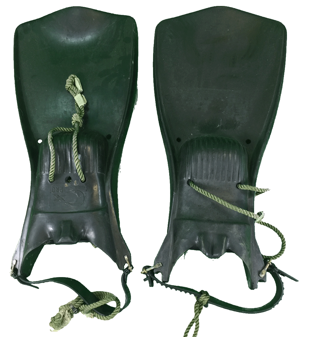 Military navy naval surplus diving swimming fins flippers