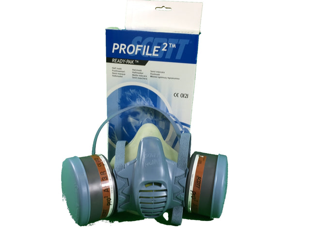 Scott Profile 2 ready-pak Respirator with filters size LARGE dust spray