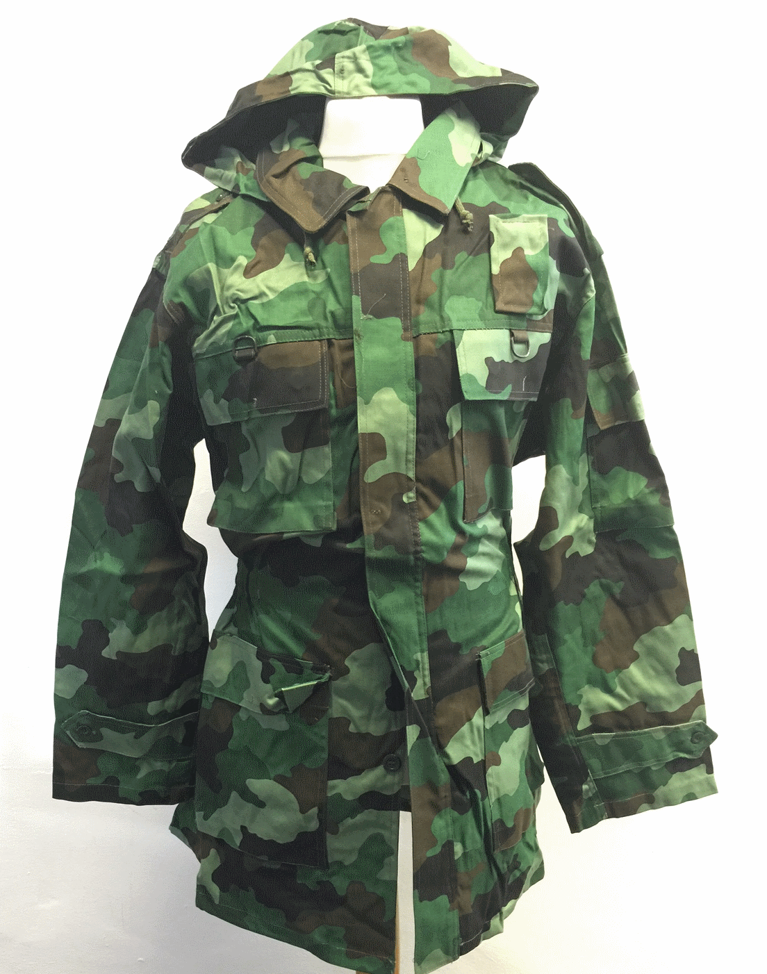 Serbian army surplus woodland camouflage combat field jacket NEW