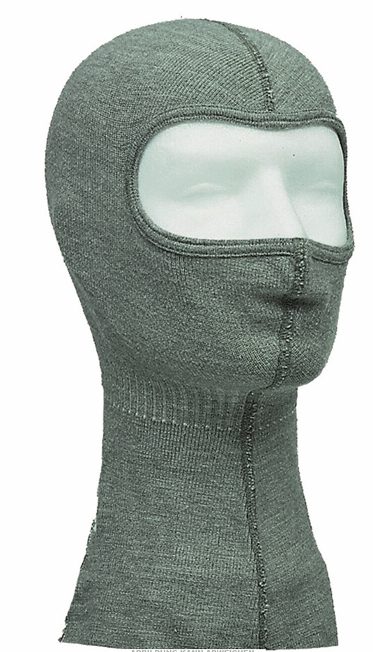 German army surplus cold weather face mask balaclava wool