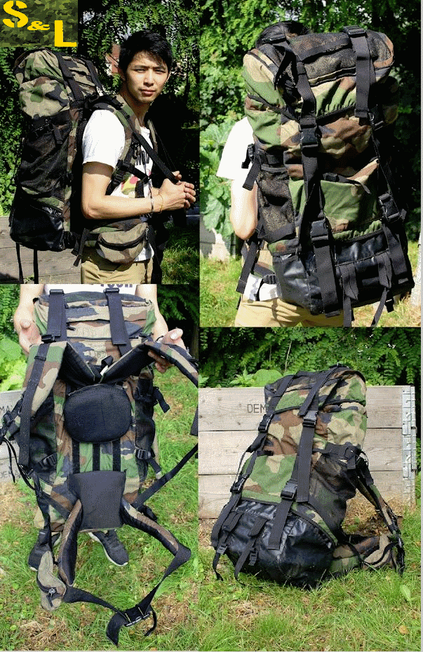 French army / military surplus 70L backpack rucksack woodland camouflage