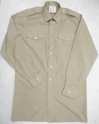 British army surplus stone coloured short sleev shirt NEW and UNISSUED