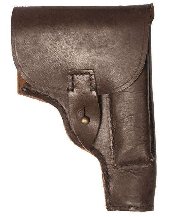 Vintage leather serbian / East European leather pistil and magazine holster
