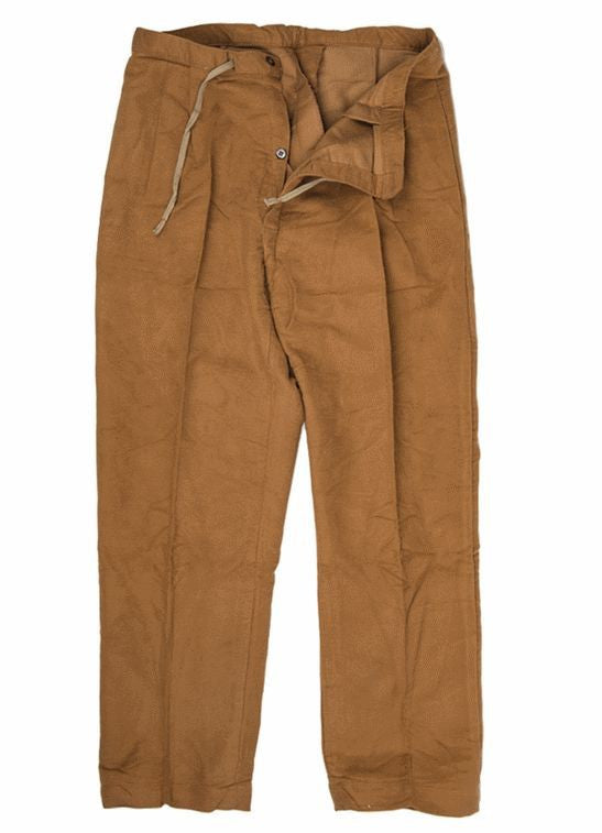 Italian military surplus flannel work trousers