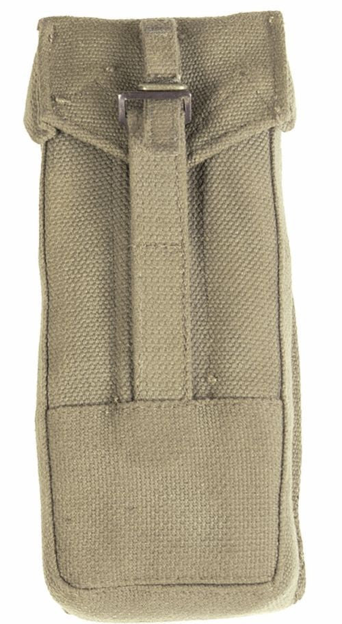 German army surplus canvas Uzi sub machine gun magazine pouch