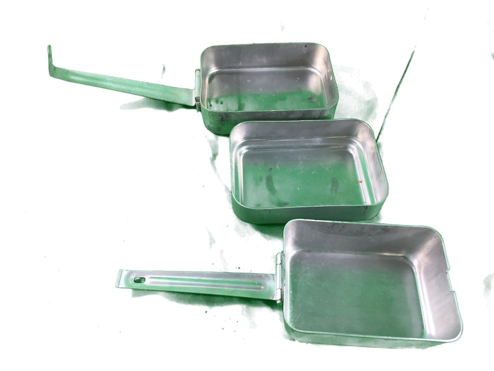 French army surplus 3 piece field canteen set cooking aluminium compact