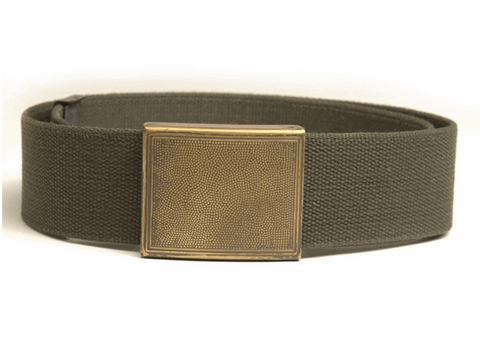 German army surplus heavy duty wide leather belt and buckle