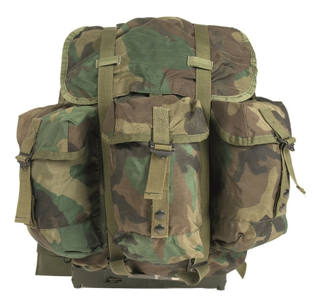American military surplus medium sized ALICE backpack in woodland camo
