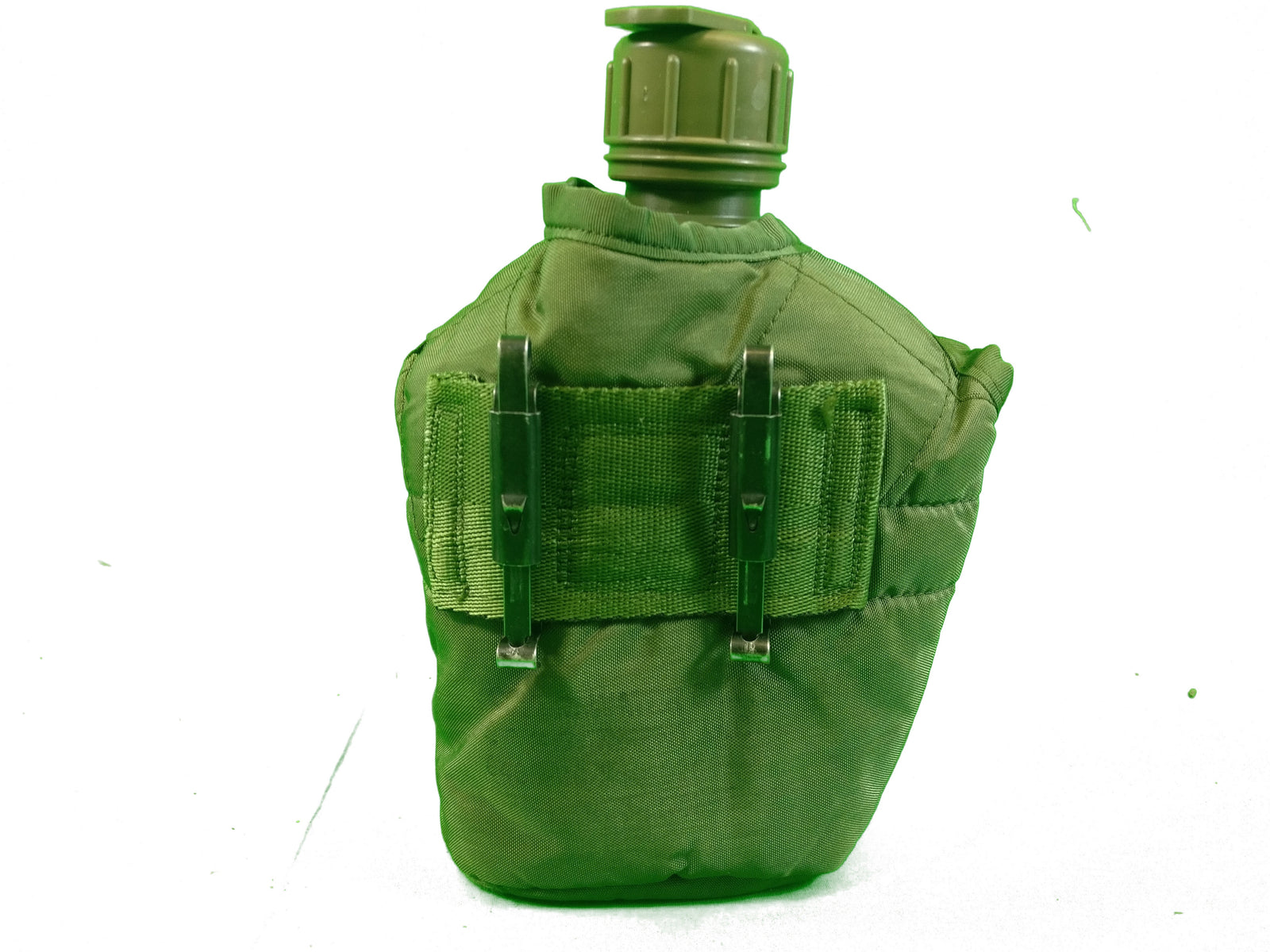DUP01-US army styled 1 quart water bottle canteen field flask olive green army cadet