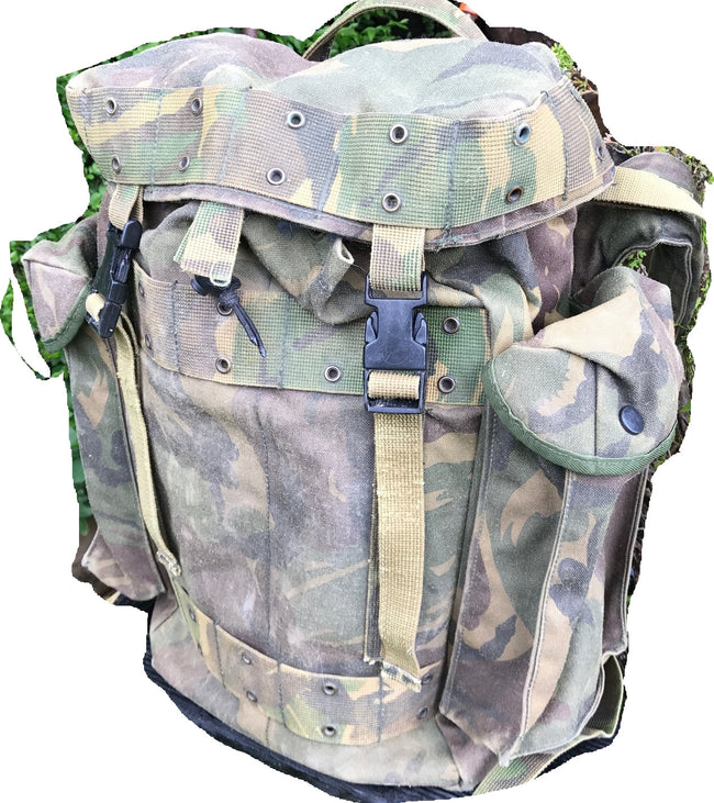 Dutch army military surplus DPM camouflage day sack