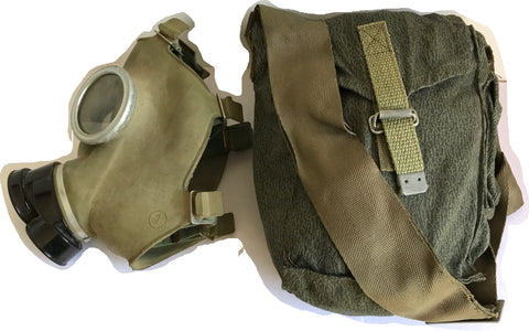 Gas mask bag, east European, cotton/canvas, NEW/UNISSUED
