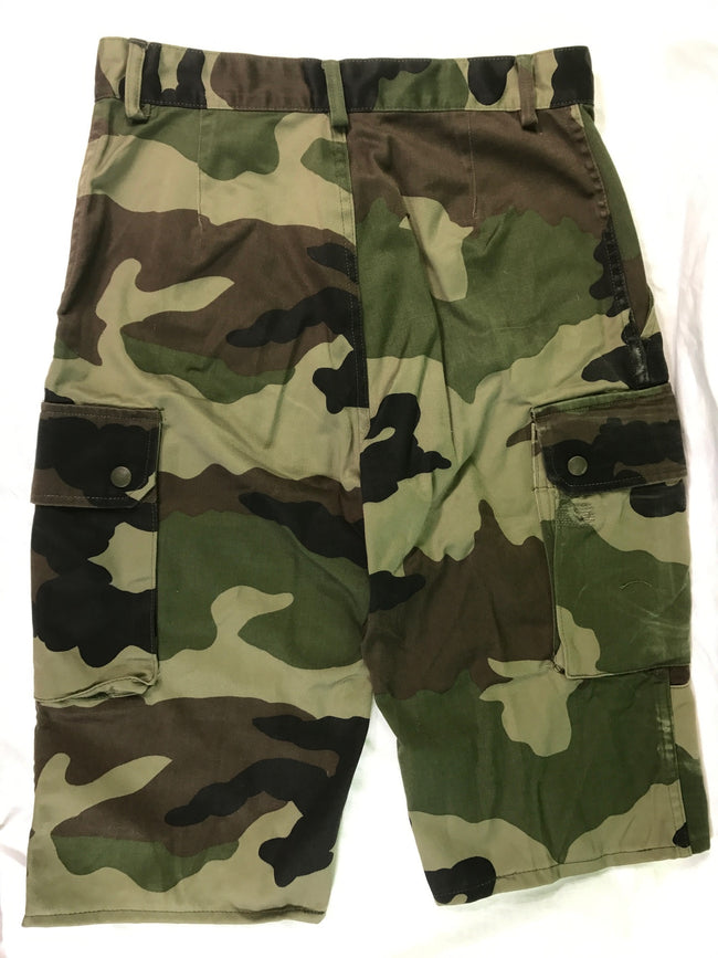 French army surplus woodland camouflage bermuda shorts