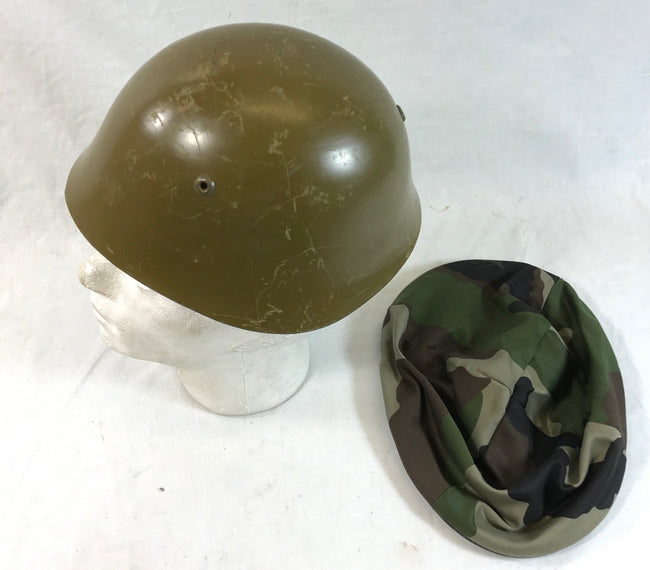 BULGARIAN military army surplus steel combat helmet M72 PLUC cover