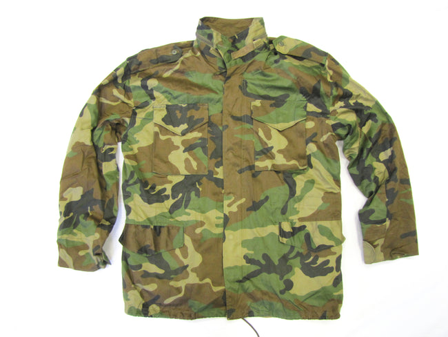 Croatian army surplus woodland camouflage M65 field jacket