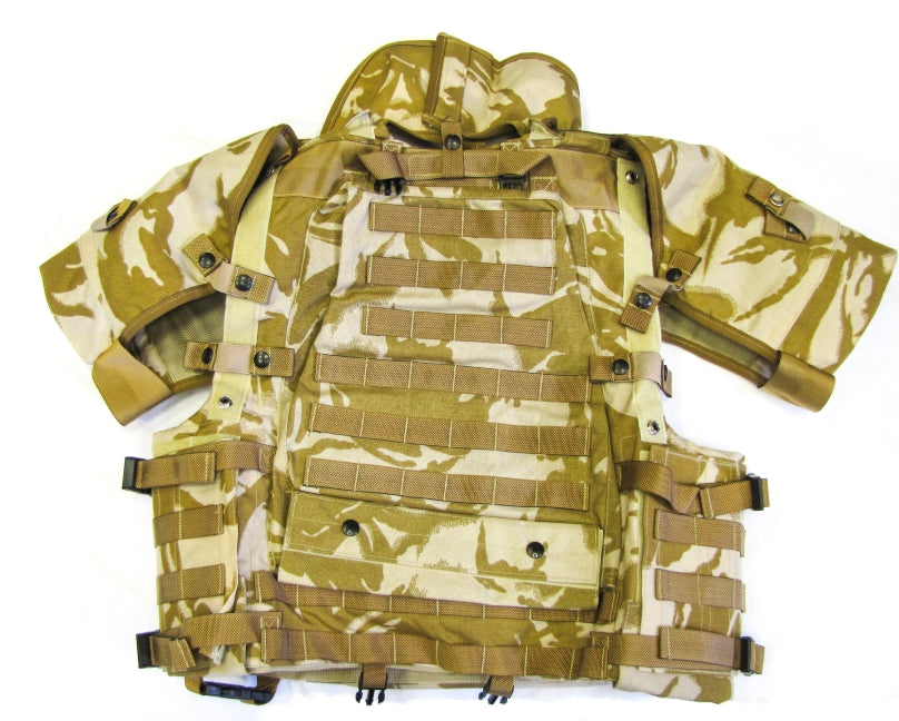 DUP01-NEW - British Desert Osprey Mk3 Body Armour Flak Vest Cover Complete