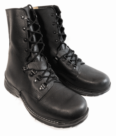 Austrian army surplus high leg all leather combat / assault boots