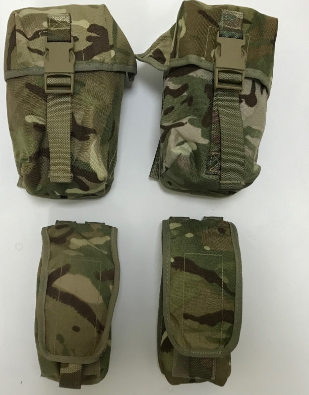Set of 4 British army surplus  MTP camouflage pouches
