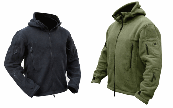 Army military security cadet zip up fleece jacket hoodie hoody tactical