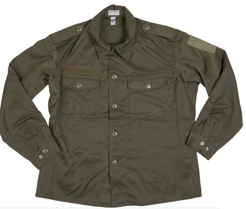 East European army surplus OLIVE GREEN shirt - UNISSUED   dien