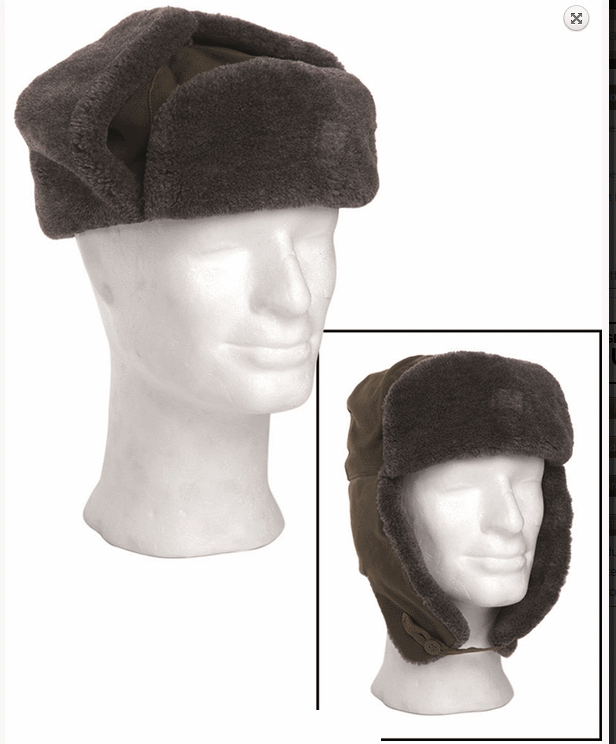 Czech army surplus M85 ushanka cold weather hat fold neac ear cover