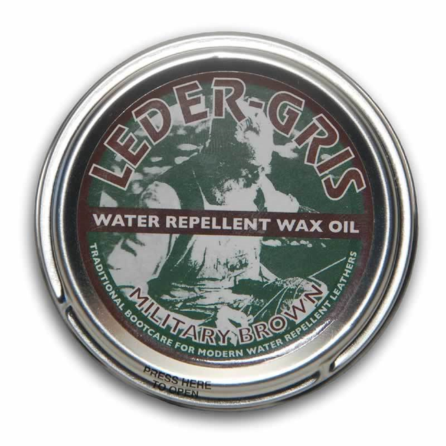 Altberg Leder Gris leather boot wax oil waterproofing for brown boots army