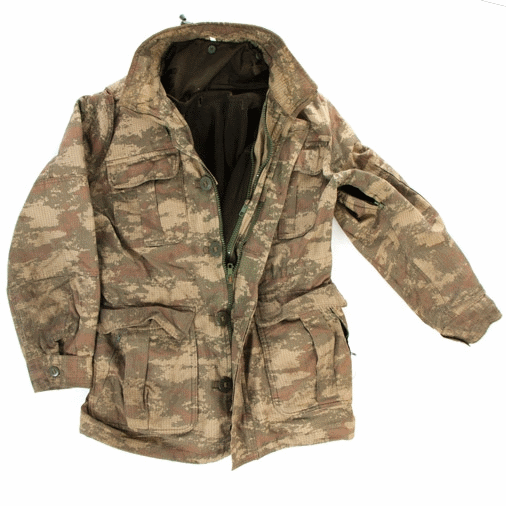 Turkish military surplus ripstop camouflage combat  field jacket lined