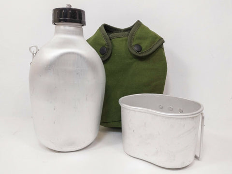 British army surplus 58 pattern water bottle plus DPM camouflage canteen pouch
