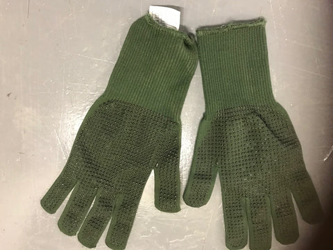 Swedish army surplus LEATHER white ( snow camo) work gloves mittens