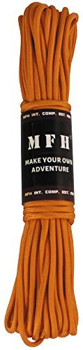ORANGE tough 550 paracord 50 ft survival camping hiking