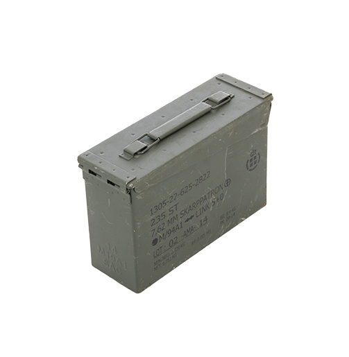 Danish Ammo Metal Box 30cal 7.62 Munitions Denmark Olive Green