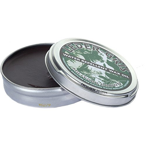 Altberg Leder-Gris Waterproof Boot Wax / Oil For Leather Boots 80g Tin (Brown)