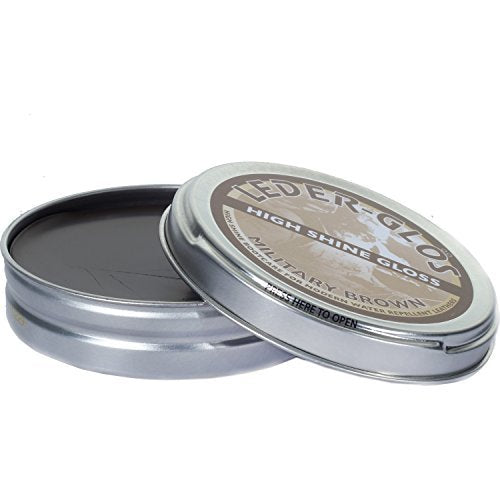 Altberg Leder-Glos High Shine Gloss Leather Polish For Boots, 80g Tin (Brown)