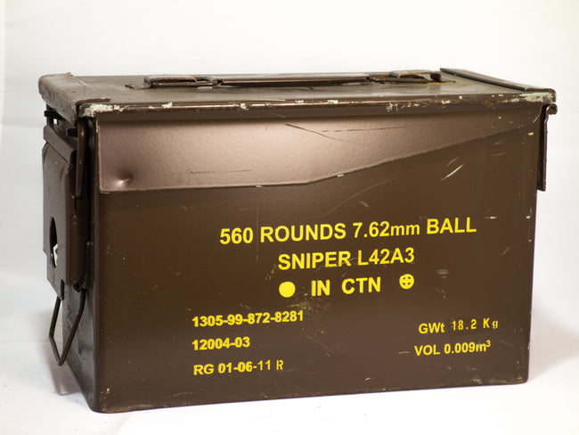 British Army Surplus Ammunition ammo box 50 cal military surplus storage tools Brown